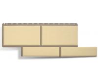 Фасадные панели (цокольный сайдинг) КОЛЛЕКЦИЯ «Флорентийский камень» Слоновая Кость