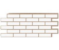 Фасадные панели (цокольный сайдинг) коллекция кирпич Модерн - Белый