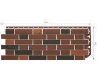Фасадные панели Flemish (гладкий кирпич) Красный пестрый