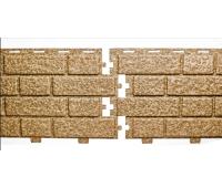 Цокольный сайдинг коллекция Кирпич - Кэмел Меланж (0.350 x 1.04м)