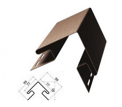 Внешний (наружный) угол коричневый для винилового сайдинга от производителя Grand Line по цене 450.00 р