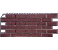 Фасадные панели (цокольный сайдинг) коллекция Кирпич - Красный