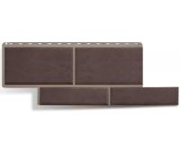 Фасадные панели (цокольный сайдинг) КОЛЛЕКЦИЯ «Флорентийский камень» Коричневый
