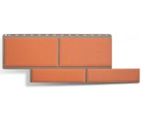 Фасадные панели (цокольный сайдинг) КОЛЛЕКЦИЯ «Флорентийский камень» Терракотовый