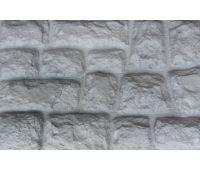 Фасадные панели Камень крупный Белый