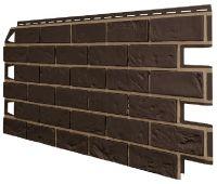 Фасадные панели (Цокольный Сайдинг) VOX Vilo Brick Тёмно-коричневый
